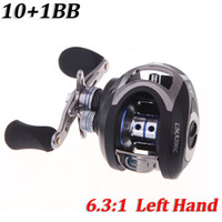 Wholesale NEW LMA200 BB Ball Bearings Left Hand Bait Casting Fishing Reel High Speed Carretilha Pesca Fishing Equipment Black H10519