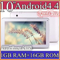 Wholesale 50PCS quot Android Quad Core tablet pc Allwinner A31S Dual Camera tablets with Bluetooth Capacitive Touch GB GB PB10