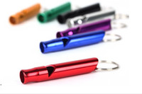 Wholesale Best price Outdoor Aluminium Survival Emergency Whistle Multicolor Hiking Camping Whistle Key Chain