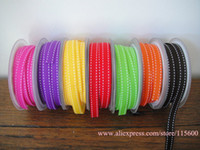 Wholesale 10mm Side Stitch Ribbon Purple Yellow Red Orange Black Peach Blossom Grosgrain Ribbon
