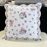 Capa de almofada 45x45cm casa rosa almofada almofada conjunto capa sofá almofada capa moda tecido núcleo