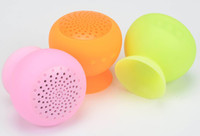 Wholesale mini Bluetooth Speaker MIC Voice Box Mushroom Speakers Hands Free Silicone Sucker Waterproof for iPhone iPad Samsung Galaxy
