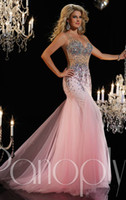 Cheap Plunging Neckline With Beaded Sheer Straps Intricate Sequins Full Skirt Mermaid Prom Dressses Long Sequined Soft Tulle Gown