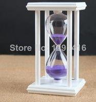 sand timer hourglass - Creative Glass Decorative Hourglass minutes timer purple Sand
