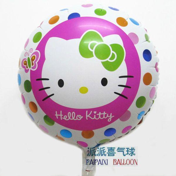 18 дюймов hello kitty круглый шар фольги hape для девочки день рождения маленький круглый фото