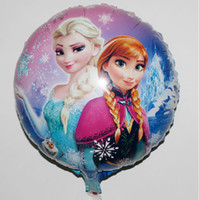 party happy birthday - Aluminum foil balloon frozen princess Quality Happy Birthday Decoration Frozen Princess Queen Anna Round Party Balloon