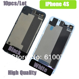 New High Quality Glass Battery Door Replacement Battery Door Back Cover Rear Door Housing Case for iPhone 4S