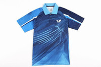 badminton offers - 2014 Hot Sale Special Offer Men Butterfly Table Tennis Shirt And Shorts for Pingpong Shirt jersey Badminton Clothing