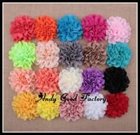 Trial order Eyelet Chiffon Lace Flowers DIY Fabric flower for Headband