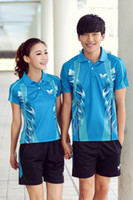 Wholesale New Original Butterfly Table Tennis Shirts And Short For Couples Suit Badminton T shirt Polyester Ping Pong Jersey