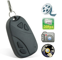 mini car camera - MINI SPY CAR KEY HIDDEN CAMERA KeyChain Digital CAM Chain DV DVR WebCam Camcorder Video Recorder