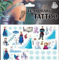 Wholesale Brand NEW Design Sheet of Frozen Temporary Tattoos Stickers Set Anna Elsa Kristoff Olaf Sven