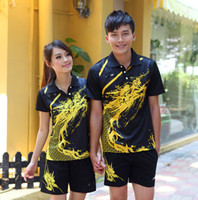 li ning - 2014 Hot Sale China Li Ning Table Tennis Shirt And Shorts for Couples Badminton Suit Polyester Fabric Jersey Ping pong Shirts Men Women