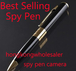 Wholesale Best Selling avi HD Spy pen Camera hidden Pen DVR with Micro SD Card Socket Hidden camera Hidden Microphone BPR6 Supmer Mini DV