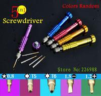 Wholesale 5 in for iPhone Samsung Phone High Hardness DIY Repair Tools Pentalobe Precision S2 Screw driver Bit Multi Screwdriver Kit