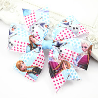 Wholesale Set of Frozen Hair Bow Clips Princess Hairpin Clips Barrettes Photo Prop Children Hair Accessories Free