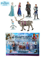 Wholesale HOT classic toys Frozen action figure peppa pig Figure Play Set Anna Elsa Hans Kristoff Sven Olaf for kid baby toy