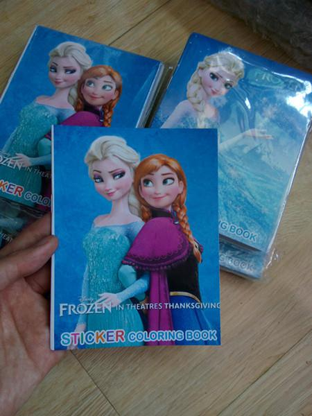 2017 Frozen Stickers Coloring Book Crayon Painting