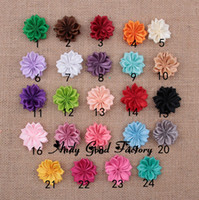 Wholesale 1 quot DIY Mini Satin Ribbon Flowers Unfinished Flowers For Baby Flower Headbands Hair Clip Hair Accessories FL099