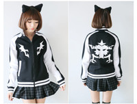 Wholesale Ryuko Matoi KILL LA KILL Mako Cosplay costume jacket hoodies Coat black baseball