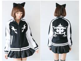 Wholesale Ryuko Matoi KILL LA KILL Mako Cosplay costume jacket hoodies Coat black baseball