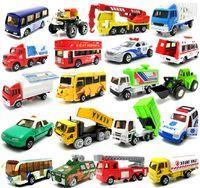 5-7 Years Bus Metal Genuine Olivia 1:64 alloy car model toy mini police car fire truck ensemble works