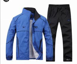 Wholesale HOT New Men s Sport suit Casual clothes jacket Pants set arrival MOQ PC More colors Tracksuit Costume