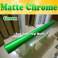 Wholesale Top Quality Green Matte Metallic Vinyl Film Matte Chrome Vinyl Air Free Bubble For Car Wraps Size M Roll ft x ft