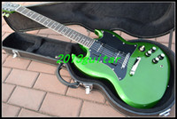 Wholesale OEM China Guitar New Arrival Green Silver burst SG Electric Guitar one piece neck No Scarf