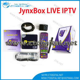 Wholesale jynxbox live iptv box american channels with one year free account for channnels Dual Core Cortex a9