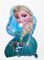 Wholesale Big promotion Cartoon Aluminum Happy Birthday Decoration Frozen Princess Queen Anna Elsa Balloon for Kids Party Supplies Foil Balloon