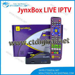 Wholesale North America Jynxbox Live IPTV satellite receiver no dish IPTV box with one year free account for channels D movie Quad Co