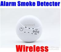 Wireless Fire Smoke Detector Alarm Burglar Fire Smoke Detector Wireless Wholesale - Home security system Cordless Wireless Alarm Burglar Fire Smoke Detector