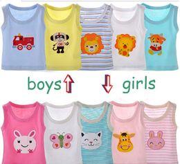 Wholesale Best Price Children s cotton Cartoon Print Sleevelss t shirts boys or girls cute Cool T shirts