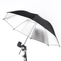 reflector umbrella flash light - NEW cm in Studio Photo Strobe Flash Light Reflector Umbrella Black Silver D1137