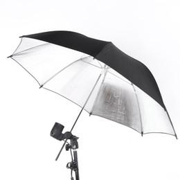 Wholesale NEW cm in Studio Photo Strobe Flash Light Reflector Umbrella Black Silver D1137