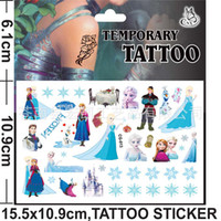 2014 Children Toys Cartoon Body Tattoos Sticker Frozen Elsa ...