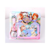 Wholesale 2014 New Blister Packed Frozen Children Cartoon Watches Despicable Me Sofia Cars Planes Peppa Pig Best Gifts Set Drop Shipping