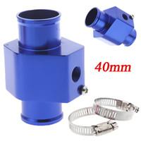 Wholesale New Aluminium Water Temp Gauge Radiator Temperature Water Temp Joint Pipe Sensor mm Hose Adapter Blue K1208BL