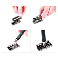 Wholesale AAA High Quality Classic Men s Manual Shaver Safety Shaving Sharp Double Edge Blade Razor H10816