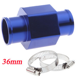 Wholesale New Aluminium Water Temp Gauge Radiator Sensor Gauge Radiator Temperature Joint Pipe Hose Adapter mm Blue K1206BL
