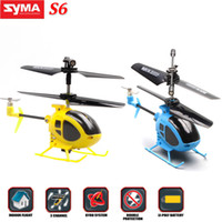 Electric 3 Channel other Original SYMA S6 Mini 3CH Channel Super Mini Micro RC Remote Control Helicopter with Gyro Indoor Toys 2014 RM476