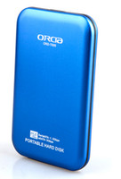 Wholesale ORCIA GB usb3 High speed storage seismic color Black Silver Blue Red White HD62058