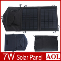 Wholesale 7W Universal Camping Solar Panel USB Charger Bag for iPhone Samsung Smartphones Cell Phone tablet Portable Electronics Laptop Foldable