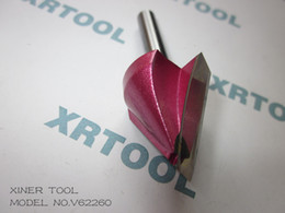 Wholesale 6mm V Shape Milling Cutters CNC Router Bits Wood Engraving Tools on D Carving Cutting Machine
