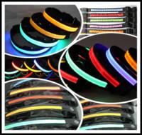 Wholesale 50Pcs Dog Pet Glow Flashing LED Collar Necklace Leashes S M L XL TB007
