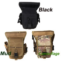 Wholesale 3Colors Outdoor Drop Leg Bag MotorcycleBike Cycling Thigh Pack Waist Belt Tactical Bag Multi purpose CP Camouflage