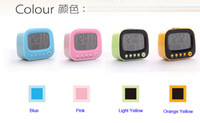 Wholesale Digital LCD Screen Mini Desktop LED Projector Alarm Clock Multi function With Snooze Backlight Calendar
