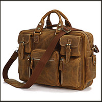 Wholesale JMD Crazy Horse Leather Laptop Bag Men s Handbag Heaven Travel Bag For Men B