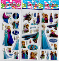 Wholesale Frozen Cartoon Stickers For Decoration ELSA ANNA Spiderman Minion Thomas Princess Sofia Zootopia Pony Classic Toys Sheets Free Ship